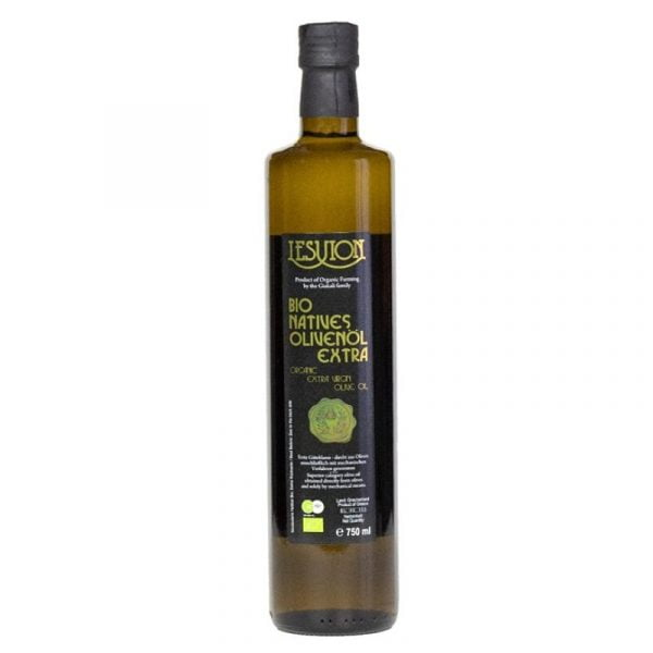 Lesvion 750ml Greek Organic Extra Virgin Olive Oil