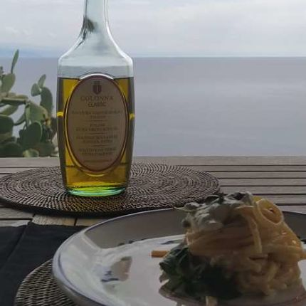 Colonna -CLASSIC Extra Virgin Olive Oil -Linguine with ricotta cheese-recipe