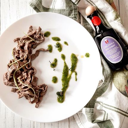 Colonna - Veal Strips recipe with rosemary infused olive oil