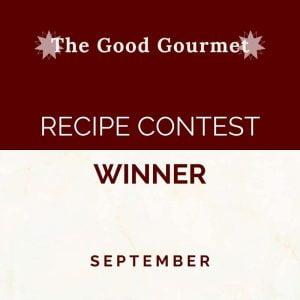 Gourmet Recipe Contest Winner September